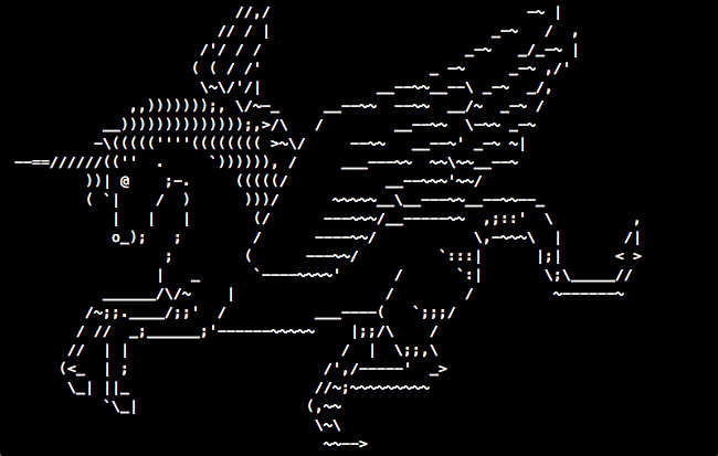 ascii-art-unicorn