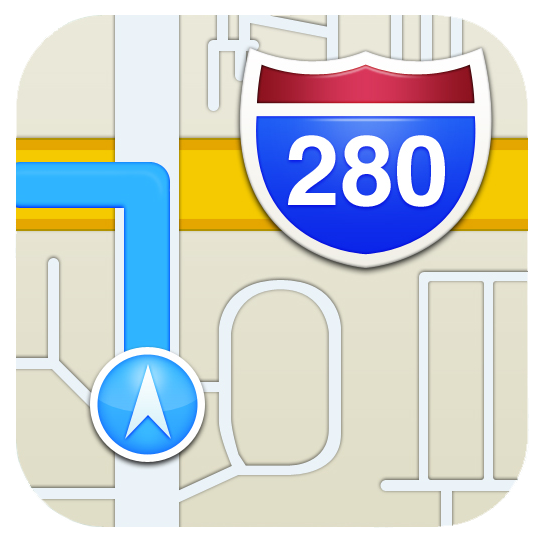 iPhone maps icon iOS6